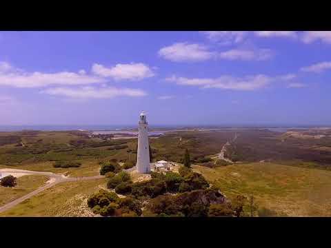 Wadjemup Lighthouse, Rottnest Island, Western Australia (Drone Foortage - Aerial Video)