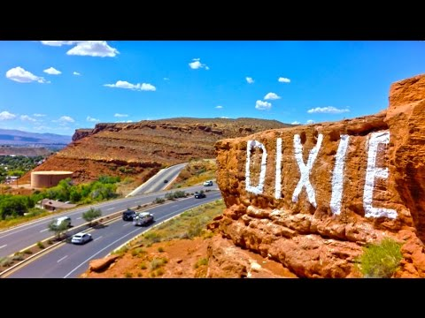 A Sky View of St. George, Utah. Aerial Footage of Southern UT.
