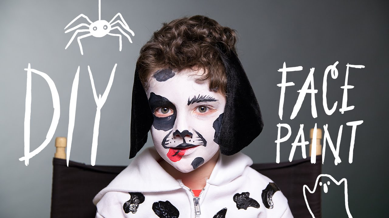 diy face paint dog makeup for halloween youtube - Halloween Facepaint