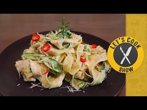 Спагетти с лимоном и цыпленком