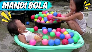 Lifia Niala Mandi Bola Di Baskom Anak | Bola Warna Warni Funny Kids Video Ball Pit Show Kids