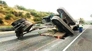 TOP IDIOTS Operator Heavy Equipment Disaster Trucks Fail - Excavator Fail Skill