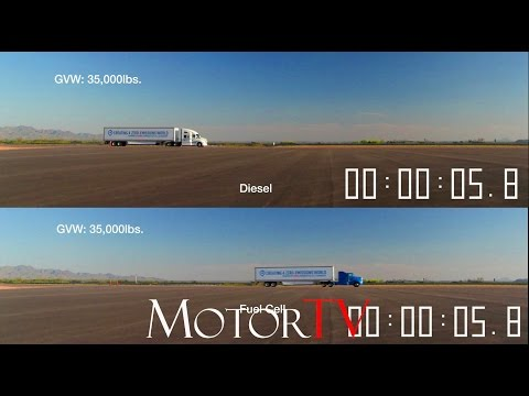 2017 TOYOTA HEAVY TRUCK FUEL CELL VS...DIESEL l Making of & Side by side acceleration test