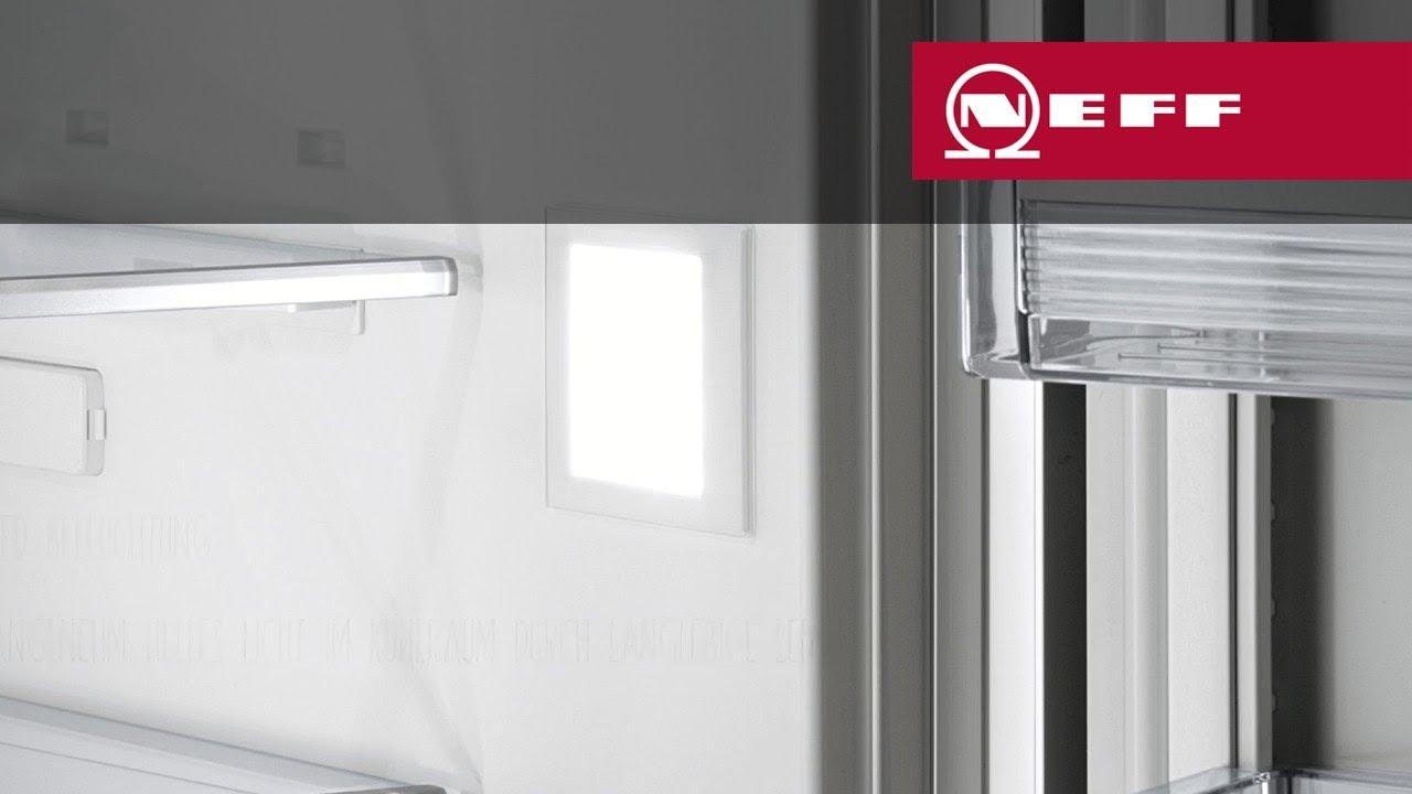 Neff Kühlschrank Side By Side : Led beleuchtung u2013 neff kühlschränke youtube