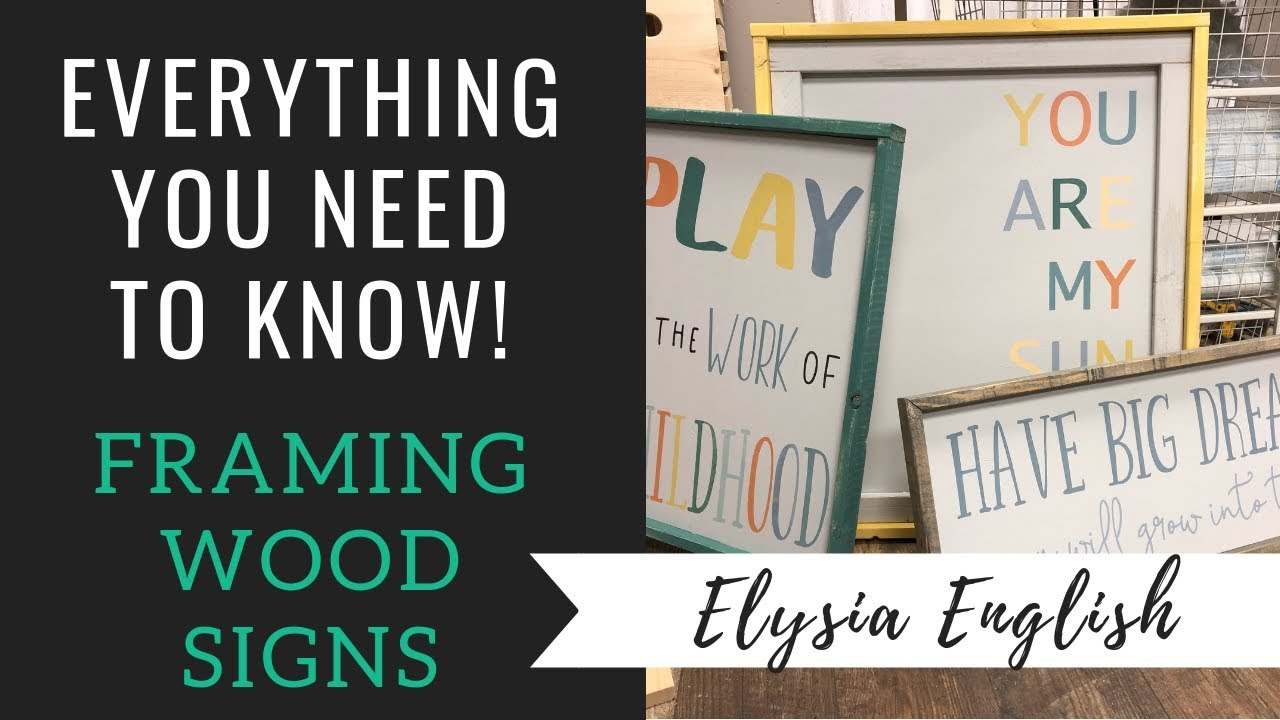 How To Frame Wood Signs Diy Framing A Wood Sign Sign Framing