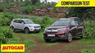 Honda BR-V CVT vs Hyundai Creta AT   Comparison Test   Autocar India