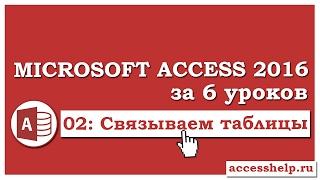 Как связать таблицы в базе данных Microsoft Access 2016