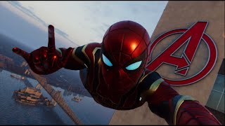 Jumping From the Highest Point With MCU Suits To Scare People In Spider Man PS4