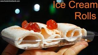 Live Ice Cream Rolls Making | Creamiest Ice Cream Ever at Rajkot, Gujarat, India
