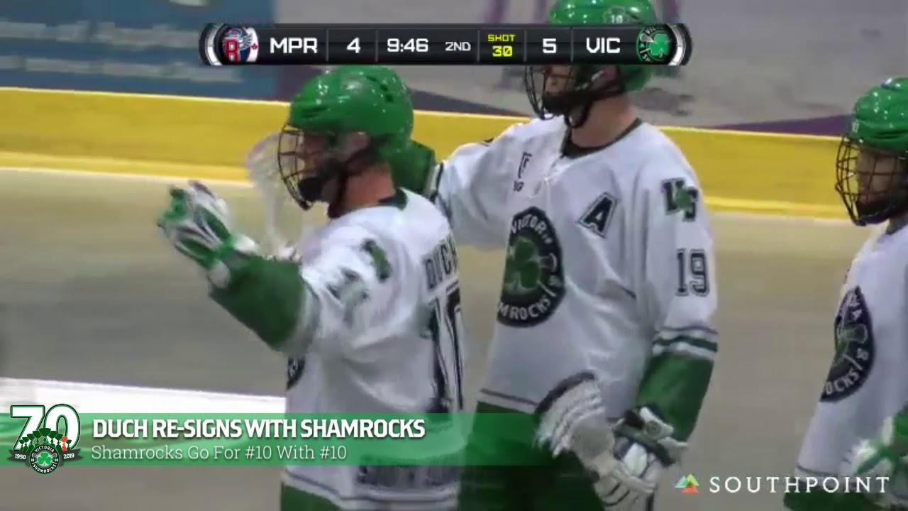 Duch Re-Signs With Shamrocks - Victoria Shamrocks