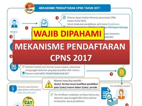 Registration Mechanism of PORTAL SSCN CPNS 2017