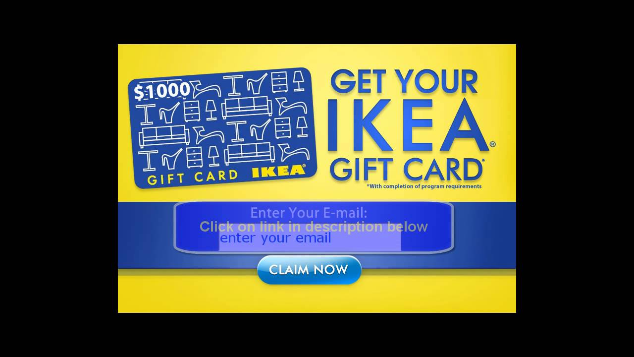 get ikea gift card 1000 exclusive youtube. Black Bedroom Furniture Sets. Home Design Ideas
