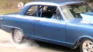 1965 Chevy 2 Nova burnout