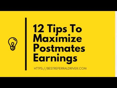 12 Tips to Help Postmates Drivers Maximize Earnings