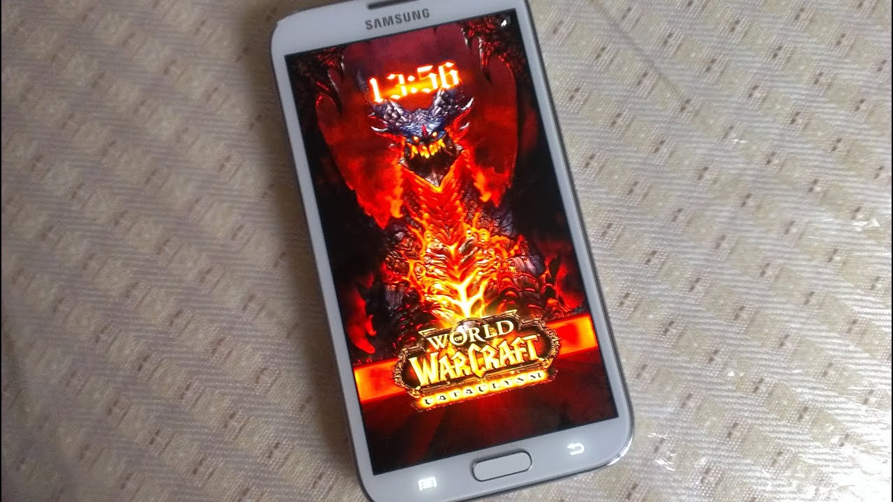 Samsung Galaxy Note 2 THEME WORLD OF WARCRAFT