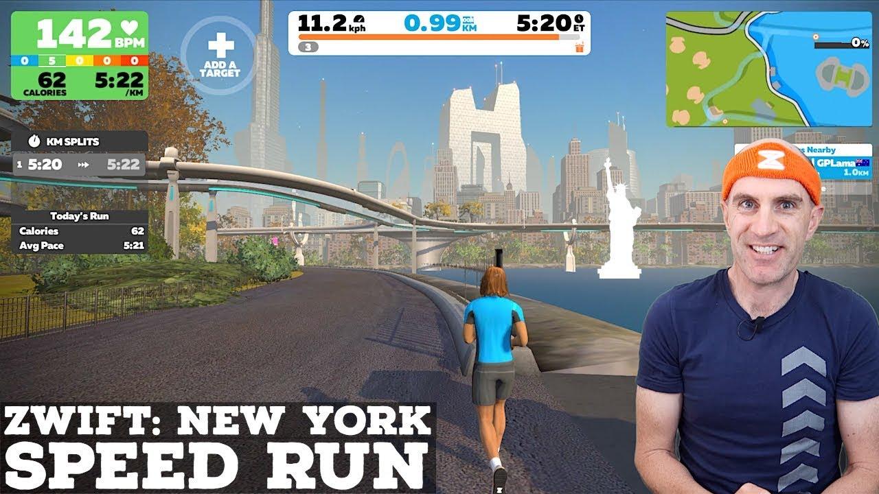Zwift New York: Shuman Trail Loop Speed Run