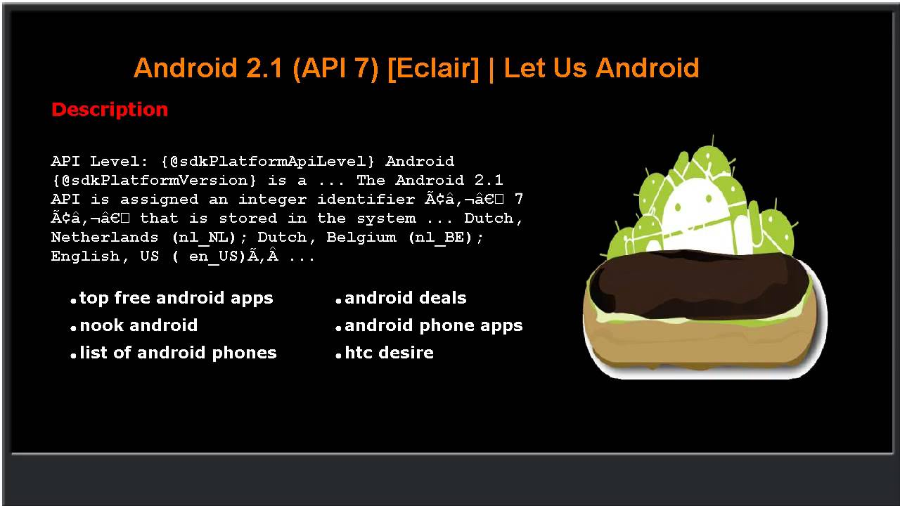 android 2 1 api 7 eclair let us android youtube android 2 1 api 7 eclair let us