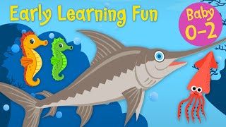 Early Learning Fun #7  🐳🐙🐠 Sea Animals | Part 3 | Counting & Colors