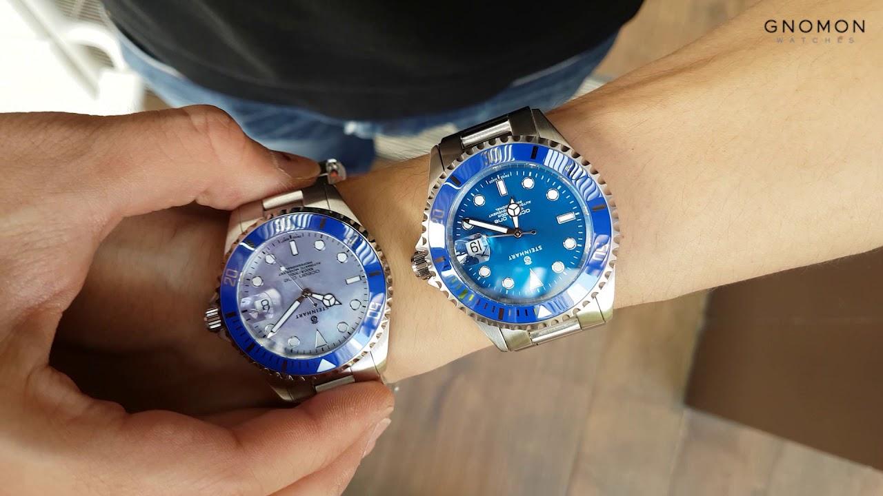 hands on the all new steinhart ocean 39mm bluepink