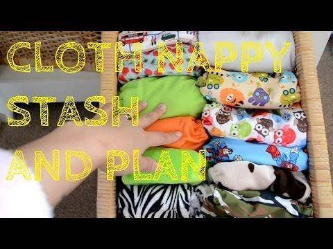 CLOTH DIAPER STASH AND PLAN