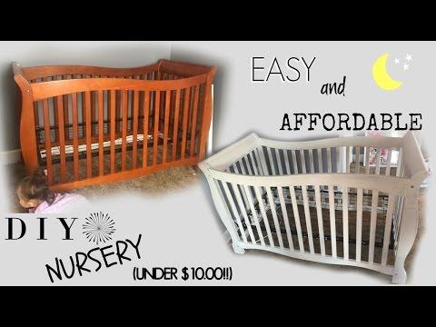 DIY Nursery//CRIB on a BUDGET!! Under $10.00!! VLOG