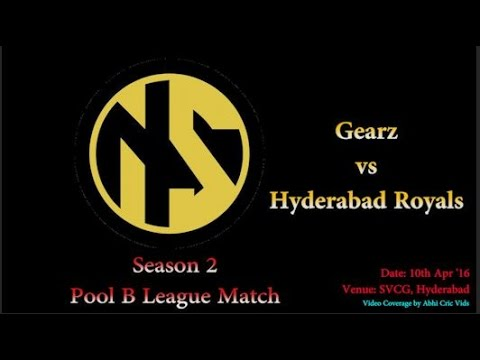 Neon Sports Season 2 Pool B League Match | Gearz vs Hyderabad Royals