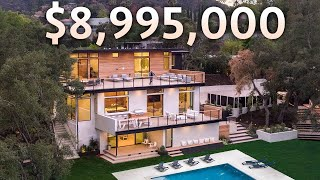 Touring a $8,995,000 Los Angeles Modern Home with a Really COOL Guest House!