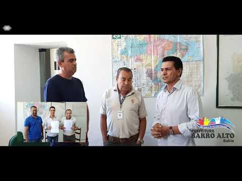 BARRO ALTO - BA. CONVÊNIO PARA PAVIMENTAÇÃO ASFÁLTICA.