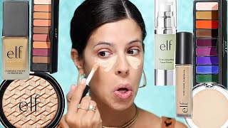 Download I TRIED A FULL FACE OF NEW ELF MAKEUP | ELF just went off. Mp3 and Videos