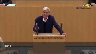 9. Nov. als Nationalfeiertag - Landtagspräsidentin interveniert (9.11.17, Landtag BW)
