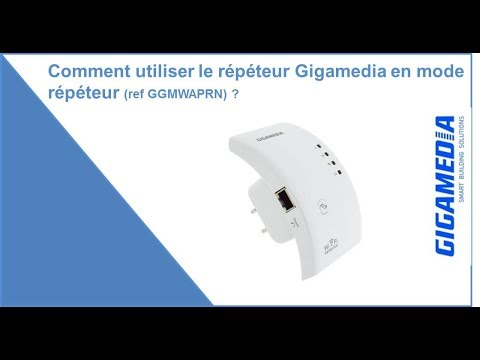 comment utiliser le r p teur wifi gigamedia en mode r p teur ref ggm waprn youtube. Black Bedroom Furniture Sets. Home Design Ideas