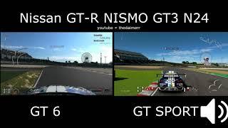 Nissan GTR Sound comparison GT Sport VS GT 6