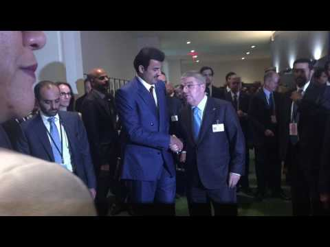 President of France IOC and Amir of Qutar