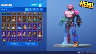 Fortnite - All v9.4 Skins + Back Blings! (Mecha Robot, World Cup Skin...)