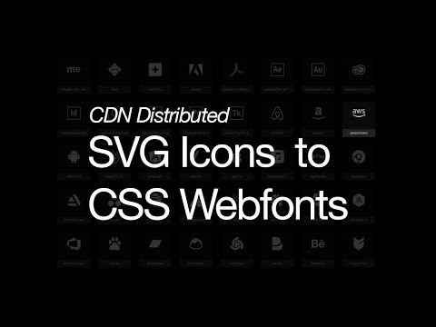 SVG Icons to CSS Fonts -- CDN Distributed via AWS S3, Route 53, Cloudfront