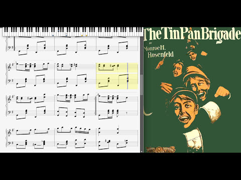 The Tin Pan Brigade By Monroe Rosenfeld (1902, Ragtime Piano)