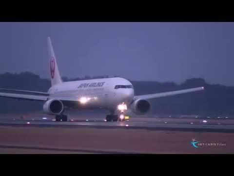 """Exciting takeoff sound"" Japan Airlines(JAL) Boeing767-300 JA8399"
