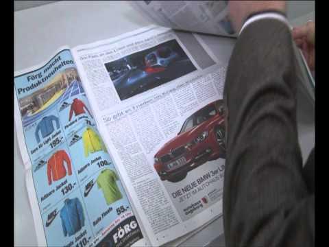 Presse- Druck Augsburg. Sonderwerbeformen in der Zeitung; Augsburger Allgemeine; Zeitungsdruck