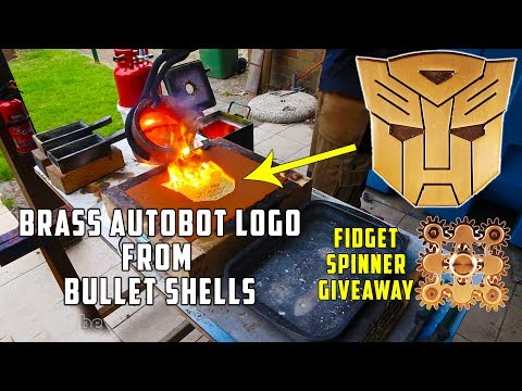 Casting Brass Transformers Autobots Logo + Fidget Spinner Giveaway !