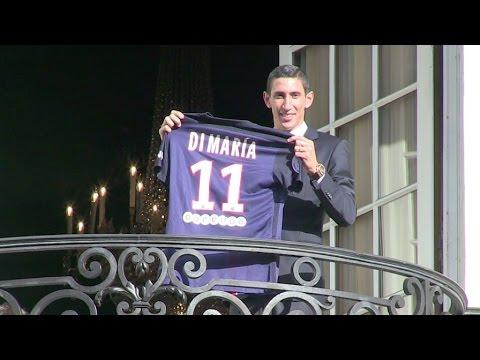 Angel Di Maria signs for the Paris Saint-Germain until 2019
