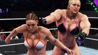 WWE 2K20 - Ronda Rousey vs. Fonseca...