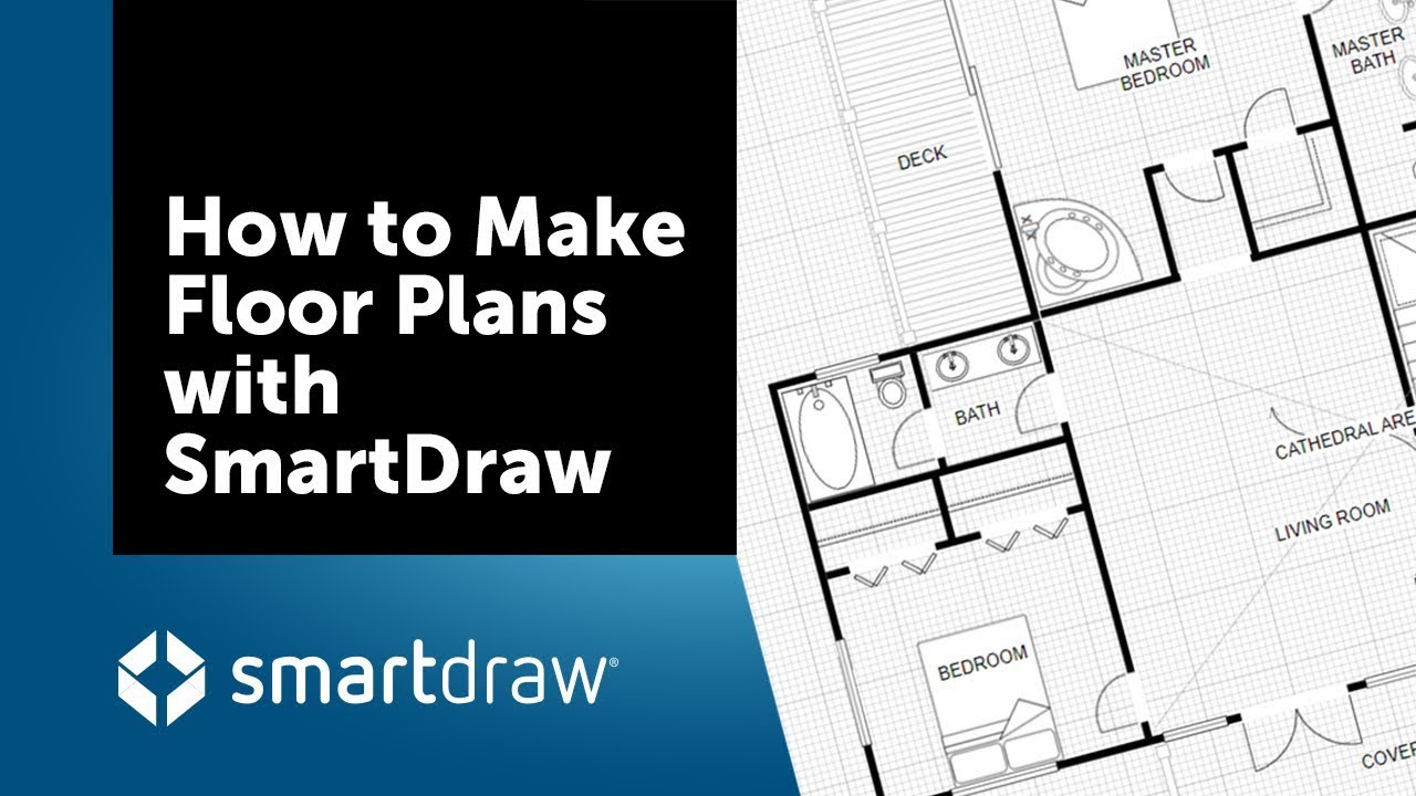 how to make floor plans with smartdraw s floor plan creator and designer [ 1280 x 720 Pixel ]