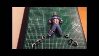 CAPTAIN CICIL WAR HD MARVEL STOP MOTION PAPERCRAFT - SCOUZY