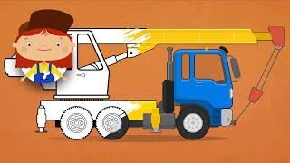 Мультики про машинки: Раскраски с Доктором Машинковой. Автокран. Цвета для детей.(, 2016-01-18T08:17:16.000Z)