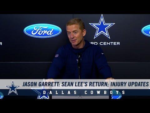 Jason Garrett Press Conference: Sean Lee's Return; Injury Updates | Dallas Cowboys 2018