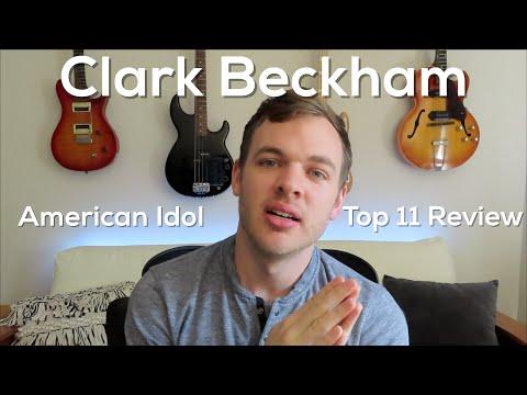 Clark Beckham Warns Contestants Not To Watch - American Idol Top 11 Review