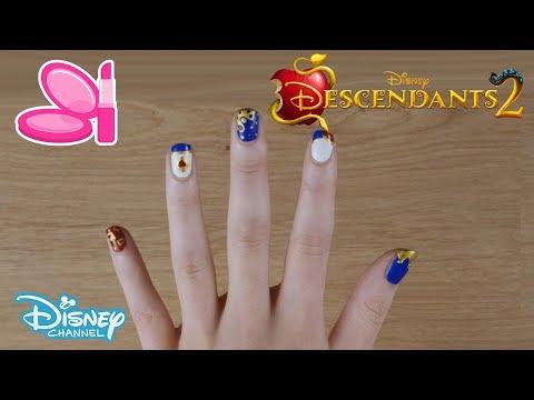 Descendants 2 | Evie's Nail Art Tutorial 💅 | Official Disney Channel UK