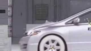Crash Test 2006 - 2009 Honda Civic 2dr. Coupe (Frontal Offset Impact) IIHS