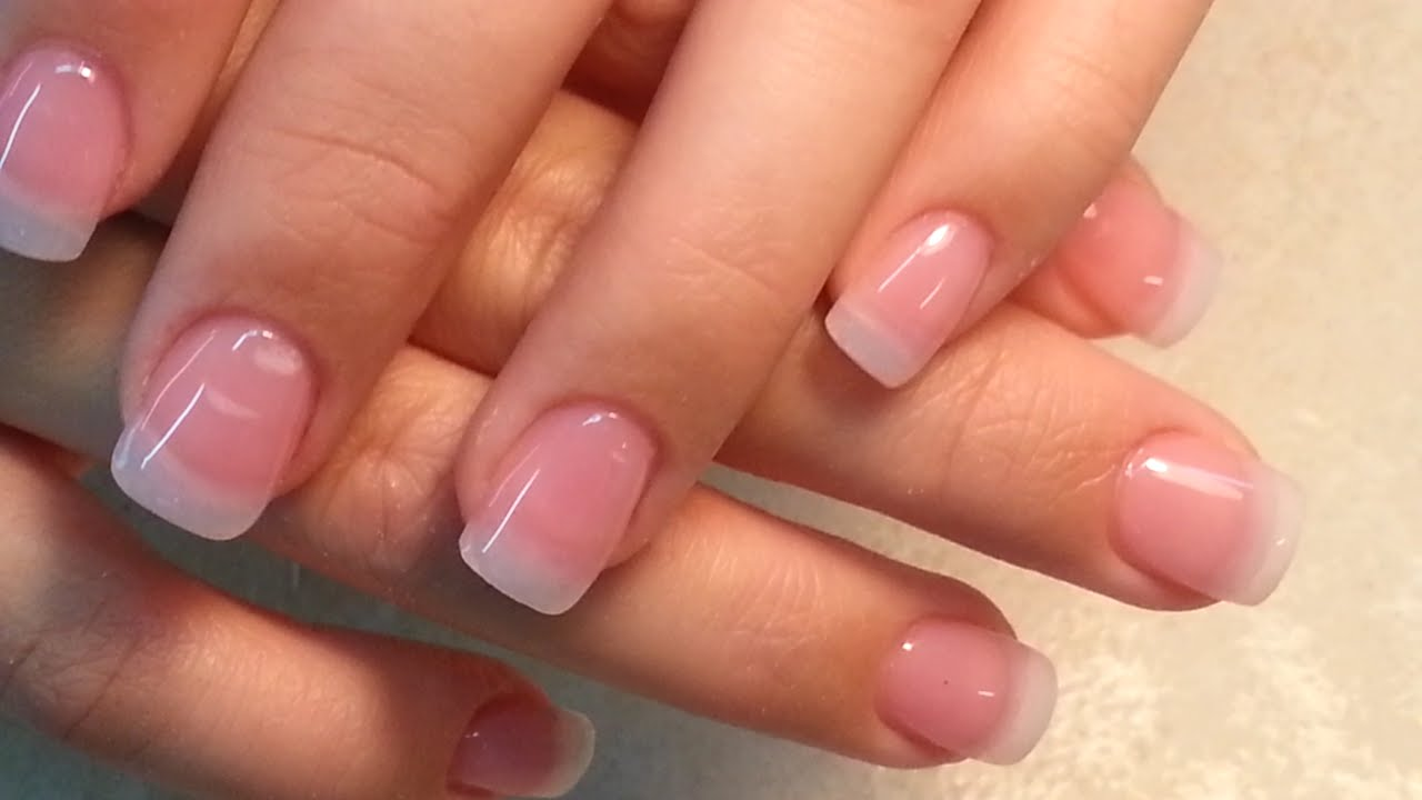 Nature Look Acrylic Fingers Nails. - YouTube