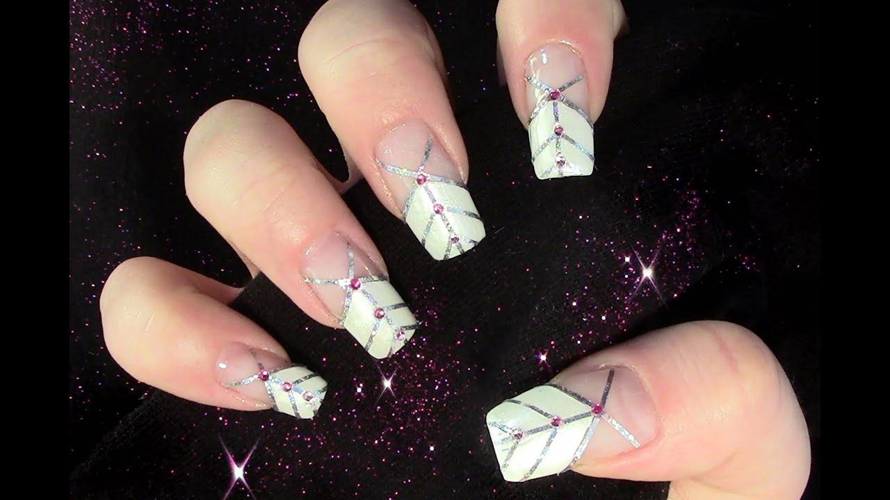 Girly Nail Design / Nageldesign selber machen mit Zierstreifen und ...